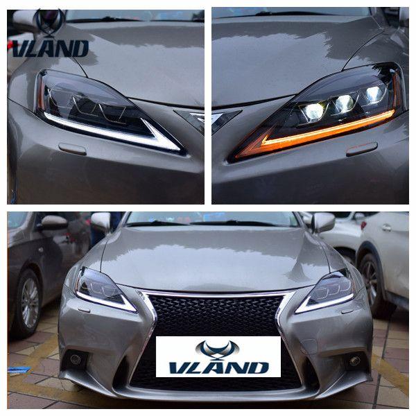 VLAND Auto montage für IS250 Kopf licht für IS350 IS300 Scheinwerfer 2006-2012 für IS220d/IST F Kopf lampe mit moving blinker