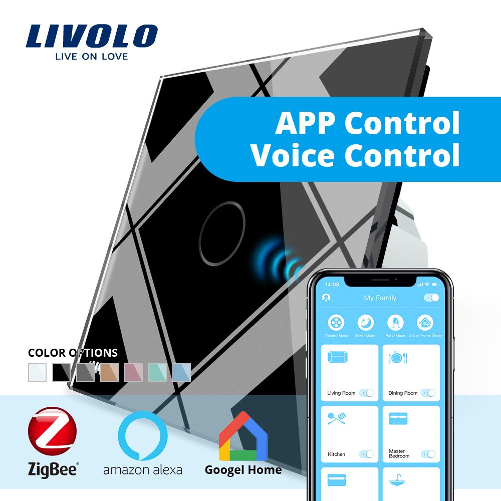 LIVOLO Gateway,Smart Home WiFi Wireless Controller by SmartPhone,google home,aleax,echo ,Work in Partnership With smart Switch