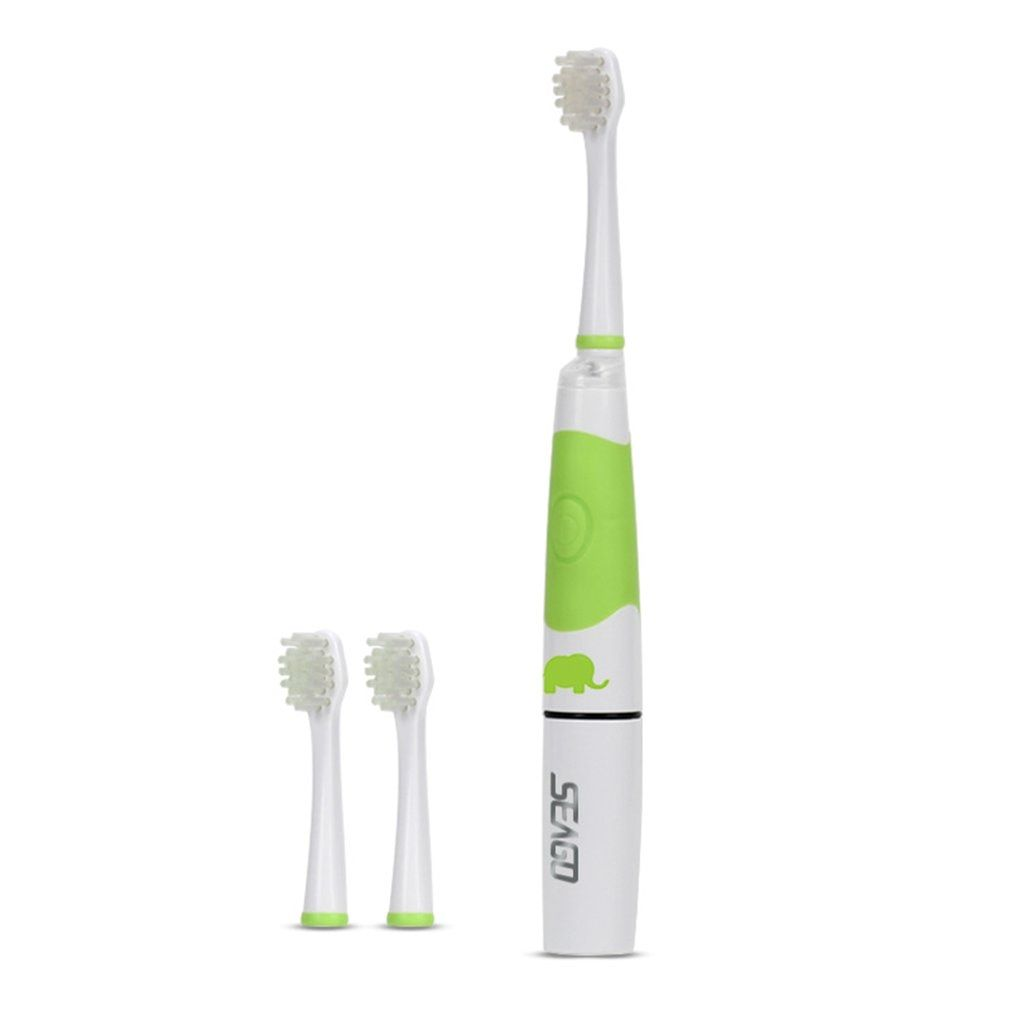 Seago Children Electric Toothbrush With 3 Brush Head Intelligent Waterproof LED Light Oral Dental Care Sonic Toothbrush SG-618