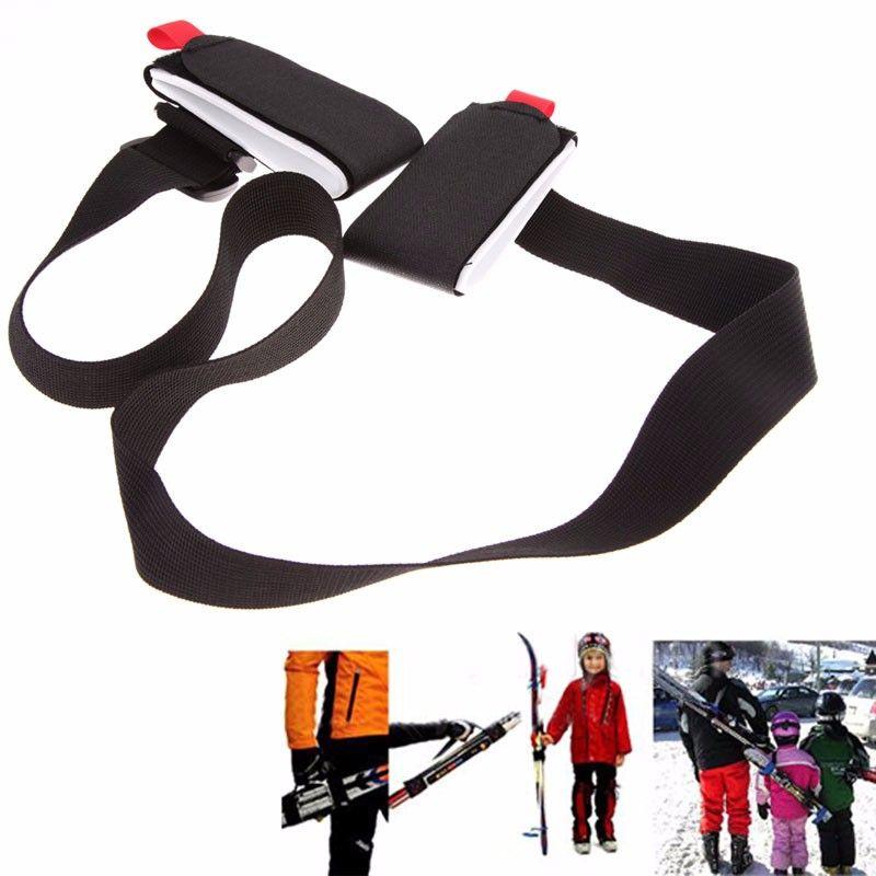 Neue Ankunft Einstellbare Skifahren Pol Schulter Handtasche Träger Lash Tragegriff Riemen Porter Mountain Ski Ski Board Ski Handschuhe