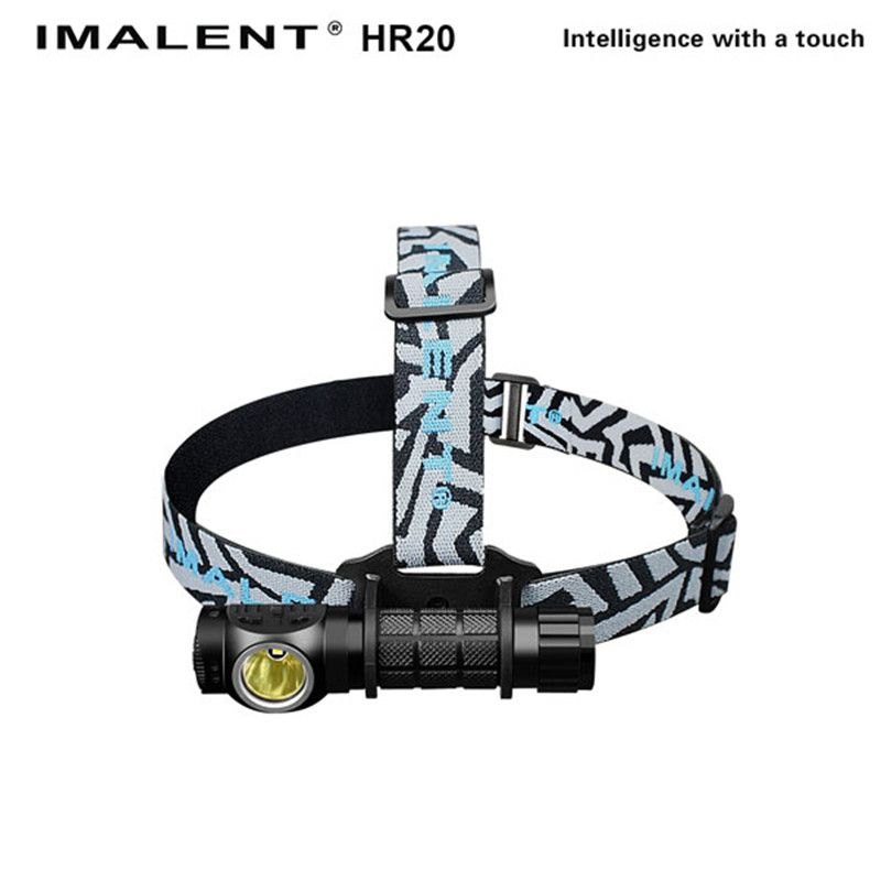 IMALENT HR20 Aluminum Waterproof XP-L HI 1000 LM Outdoor LED Headlamp headlight+18650 Battery For Camping Hiking