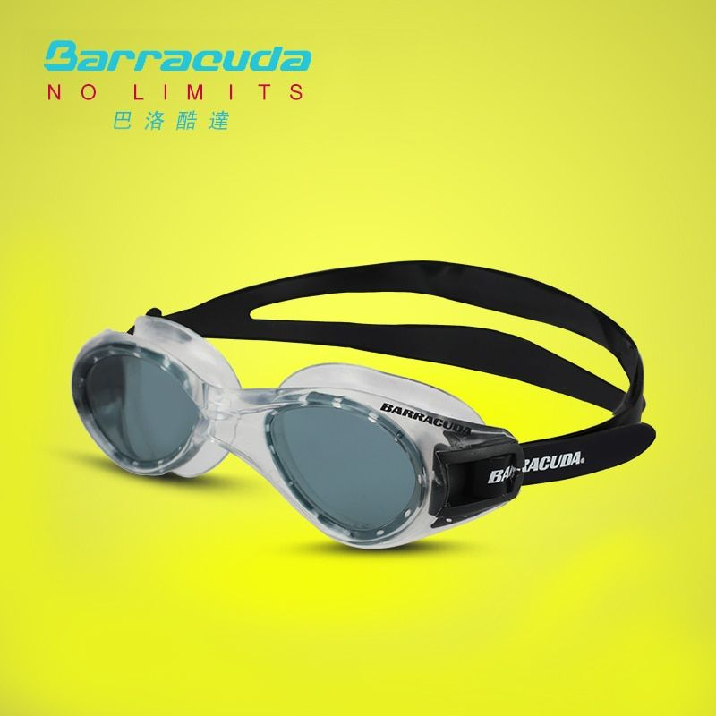 Barracuda Swim Goggle TITANIUM Anti-Fog UV Protection One-piece Frame Soft Seals Silicone Strap for Adults Men Women #16420