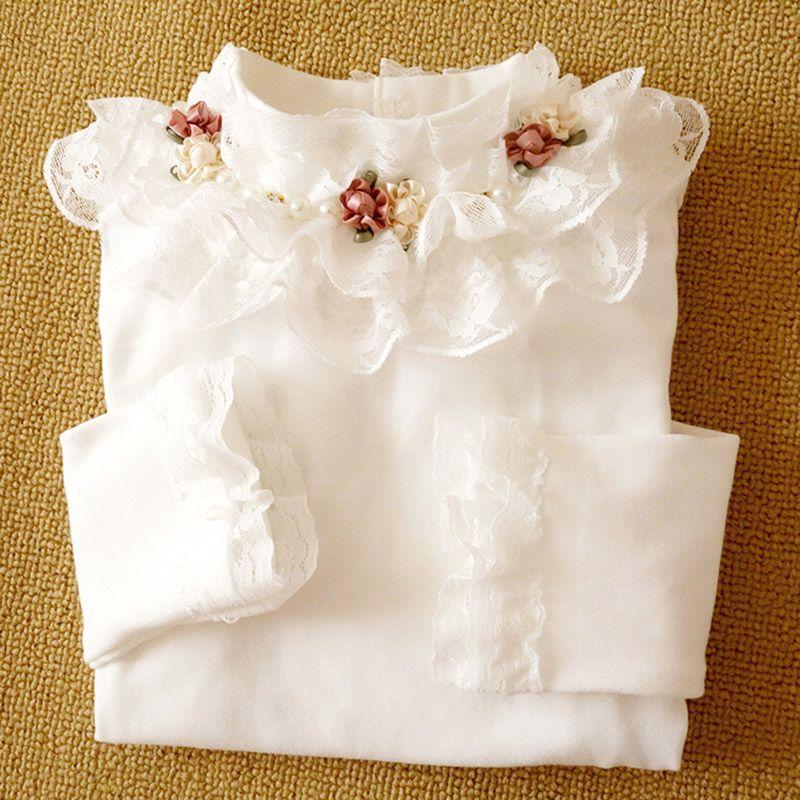 Bébé filles t-shirt printemps automne nouveaux enfants vêtements 4 6 8 10 12 13 ans à manches longues enfants fleurs coton bambin Blouse
