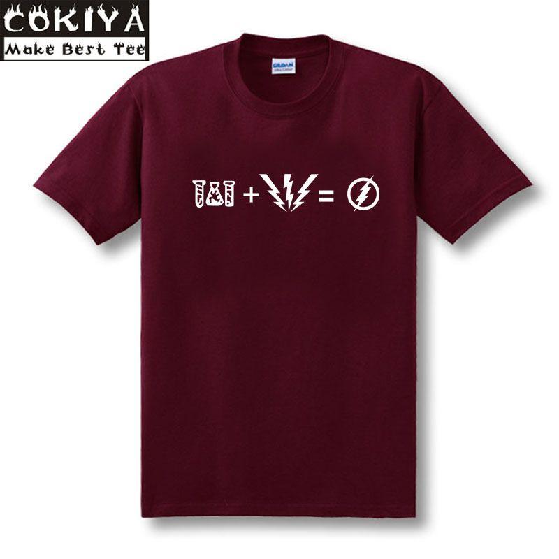L'équation FLASH T-Shirt rouge 100% t-shirt en coton comme porté par Sheldon Cooper T-Shirt TBBT t-shirt théorie du Big Bang