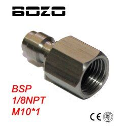 PCP airgun Inner Thread 1/8-27 NPT M10*1 1/8BSP Male Quick Disconnect Adaptor Stainless Steel Fill Nipple paintball New