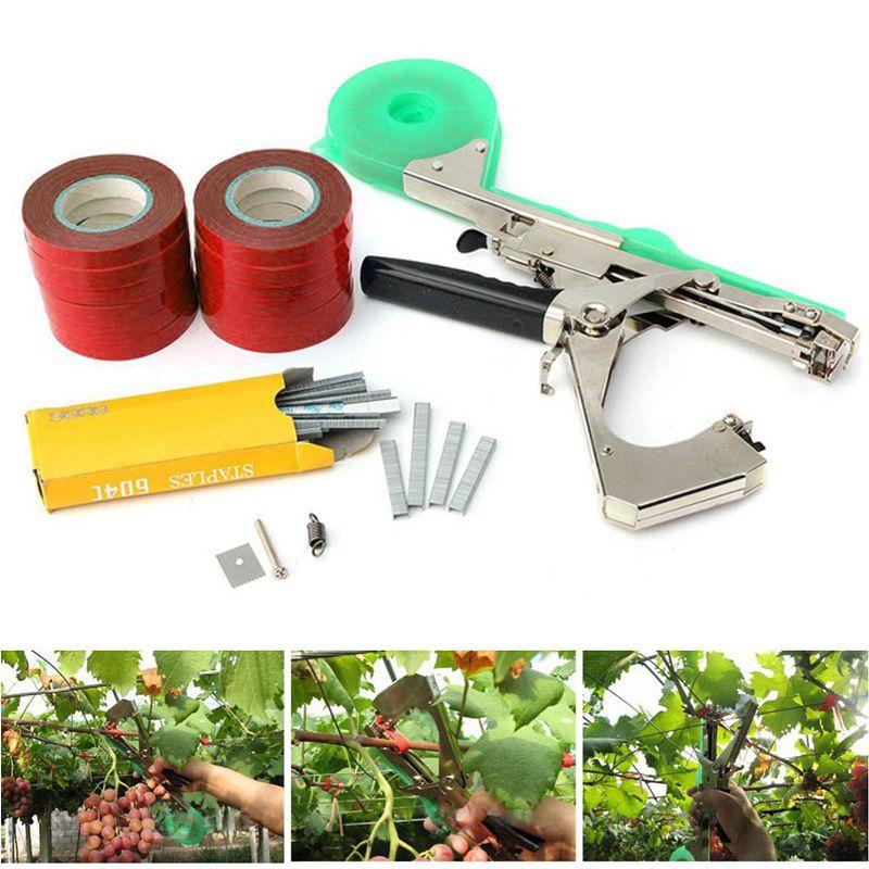 Lieuse Tapetool Tapener avec 12 rouleaux de ruban adhésif, utilisé pour les légumes, les raisins, les tomates, les concombres
