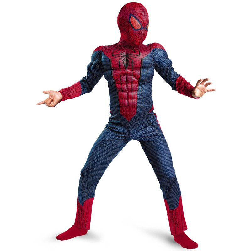 Spiderman film classique Muscle enfant halloween costume pour enfants disfraces infantiles superhéros déguisements