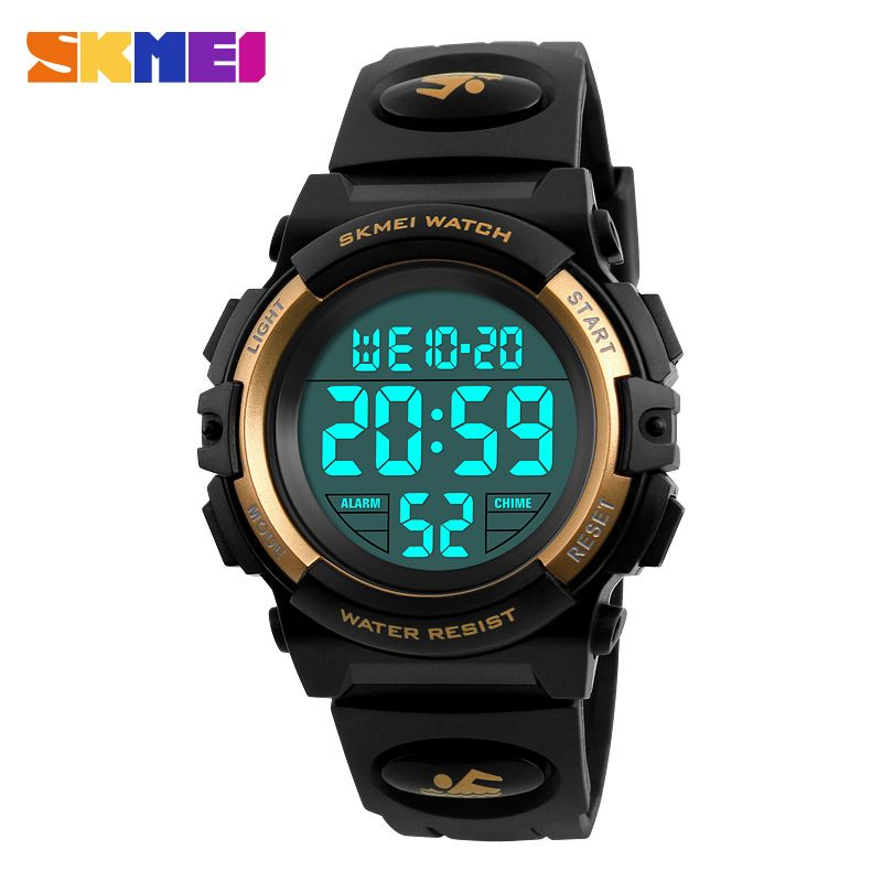 Skmei LED Digital niños reloj impermeable Natación Niñas Niños reloj Relojes deportivos estudiante de moda pulsera Relojes nueva