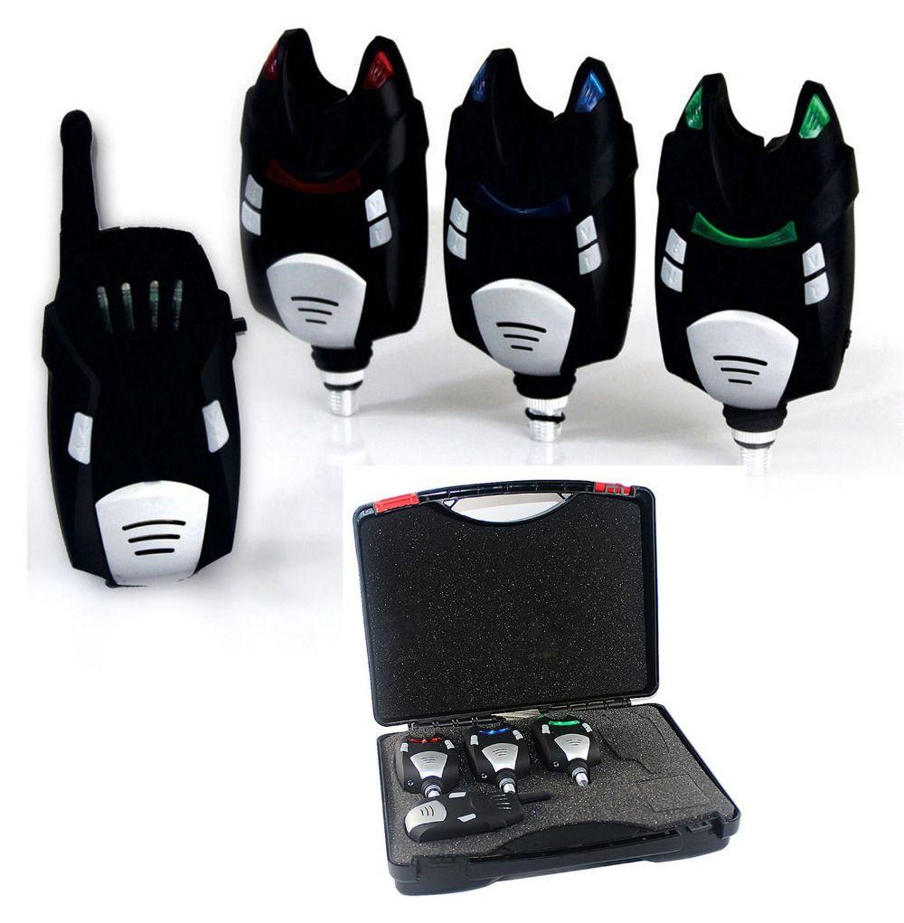 JIMITU 3 1 alarme de morsure de pêche sans fil avec boîte étanche interchangeable LED pêche à la carpe électronique canne à pêche lumière LED