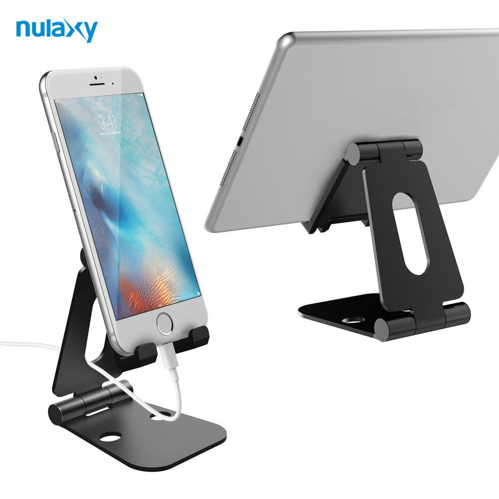 Nulaxy Tablet Stand Réglable Titulaire Stand En Aluminium Mobile Téléphone Titulaire Stand Portable Bureau Tablet Téléphone Stand pour iPad iPhone