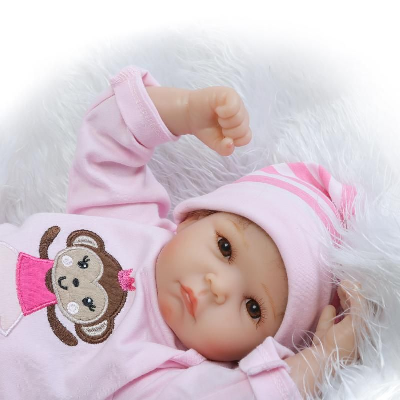 50CM Soft Silicone Reborn Baby Doll Toy 20inch Newborn Girl Babies Doll Lifelike Birthday Gifts For Kid Child Play House Toy