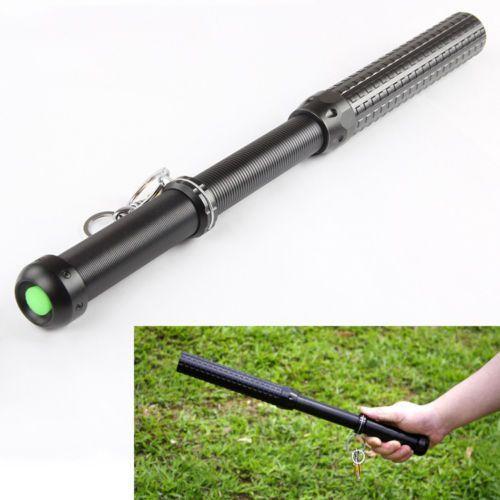 1800LM Q5 Zoom télescopique longue tactique auto-défense lampe de poche batte de Baseball 3 mode