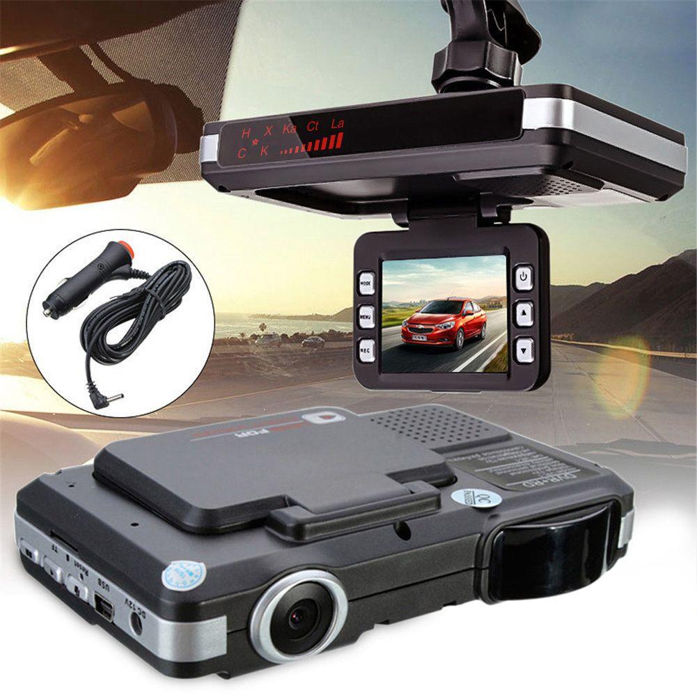 2-en-1 HD Pantalla de 2 pulgadas LCD 720 P Coche DVR Móvil Medición de velocidad De Radar G-sensor Del Coche DVR Grabador de Cámara de Control de Velocidad Detector