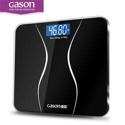 GASON A2 Balanza de baño Pantalla LCD Vidrio templado 180kg/50g