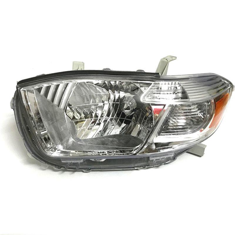 Ownsun Original Replacement Chorme Housing Halogen Headlights For Toyota Highlander 2009-2012