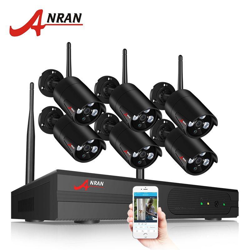 ANRAN Security Camera System Wireless 8CH 960P NVR Kit HD Outdoor IP Camera CCTV System Night Vision Surveillance Camera System