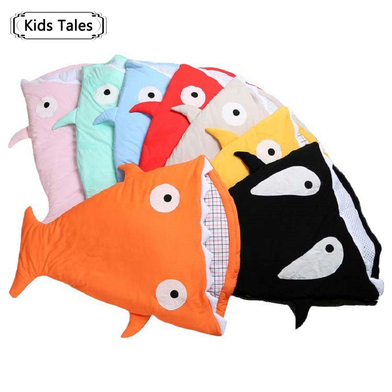 SR058 2018 <font><b>Shark</b></font> newborn sleeping bag sleeping bag winter stroller bed swaddle blanket wrap bedding cute baby sleeping bag