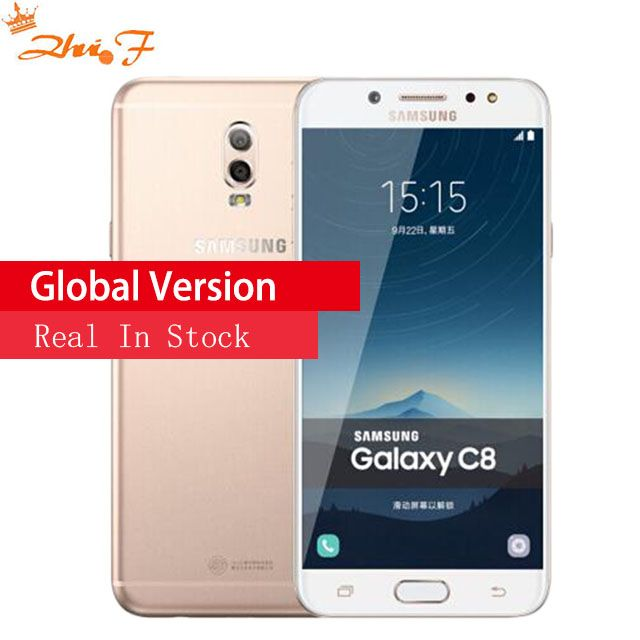 Galaxy C8 (SM-C7100) super AMOLED FHD 3G/32 gb 4g/64 gb 16MP Vorne Kamera dual sim Octa Core lte 4G Handy