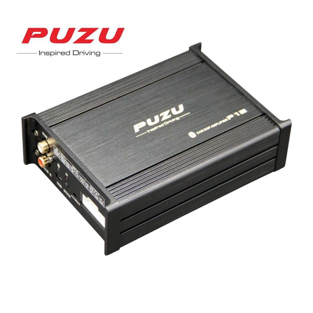 PUZU P12 Car Audio signal Processor Amplifier 4X100W support 12 Band tuning android app car DSP audio ISO cable non-destructive