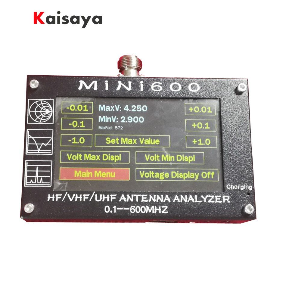 new arrival Mini600 5V/1.5A HF VHF UHF Antenna Analyzer 0.1-600MHz SWR Meter 1.0-1999 For Radio