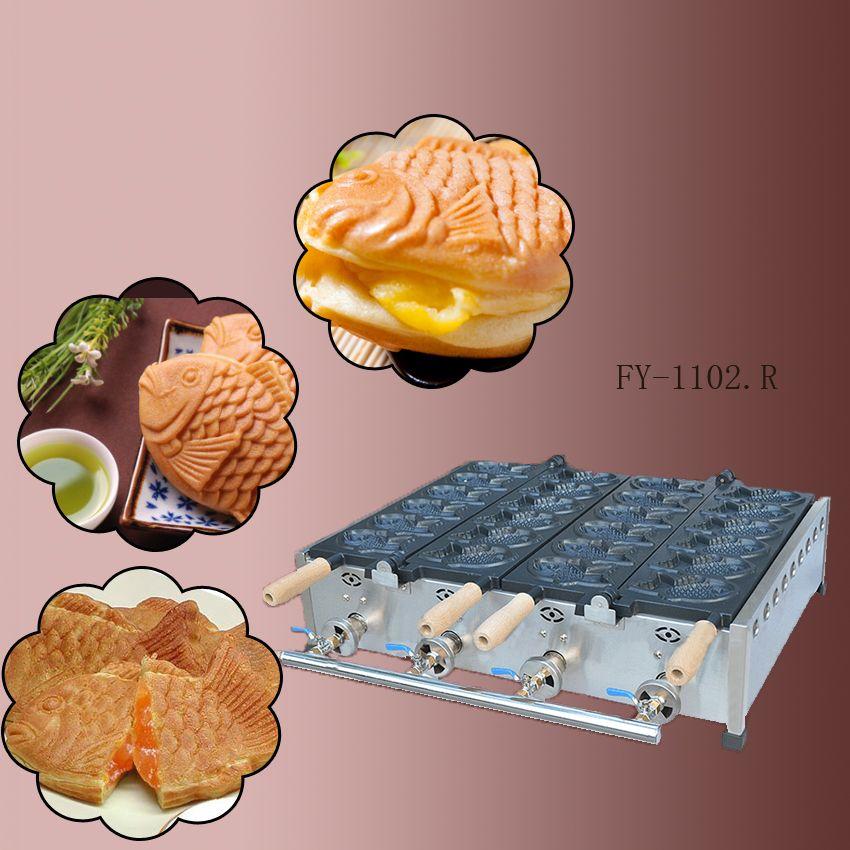1 PC Neue und hohe qualität gas typ Doppel platte 12 stücke Fisch Taiyaki waffeleisen/nicht-stick pan/waffel grill