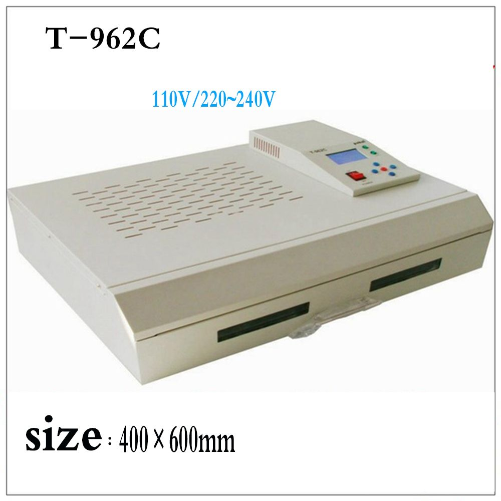 PUHUI T-962C Infrarot IC Heizung Löten Station T962C Reflow-ofen BGA SMD SMT Rework Station T 962C Reflow Wave Oven