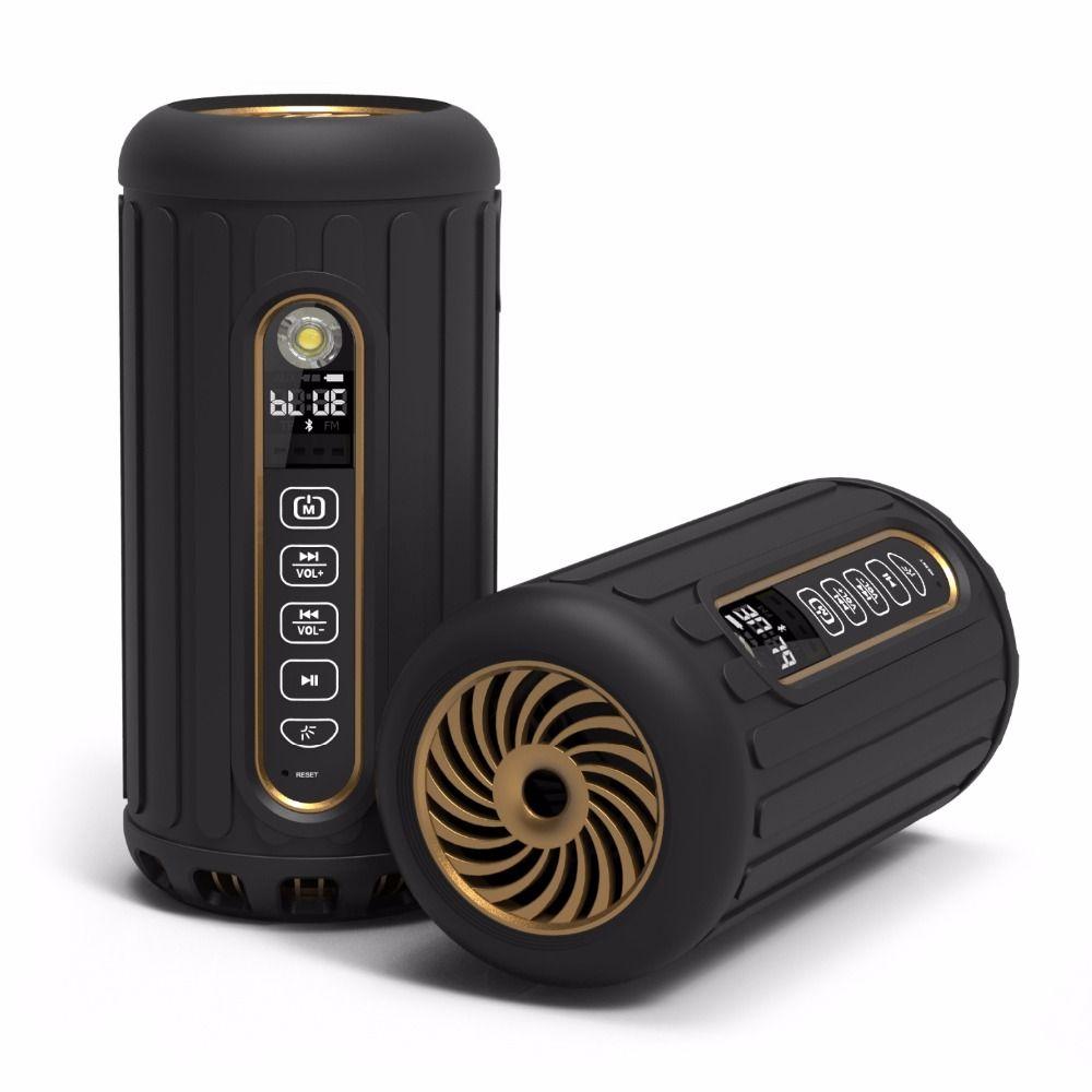 En plein air vélo sans fil bluetooth haut-parleur 6600 mAH portable haut-parleur subwoofer pour android et Iphone vtt