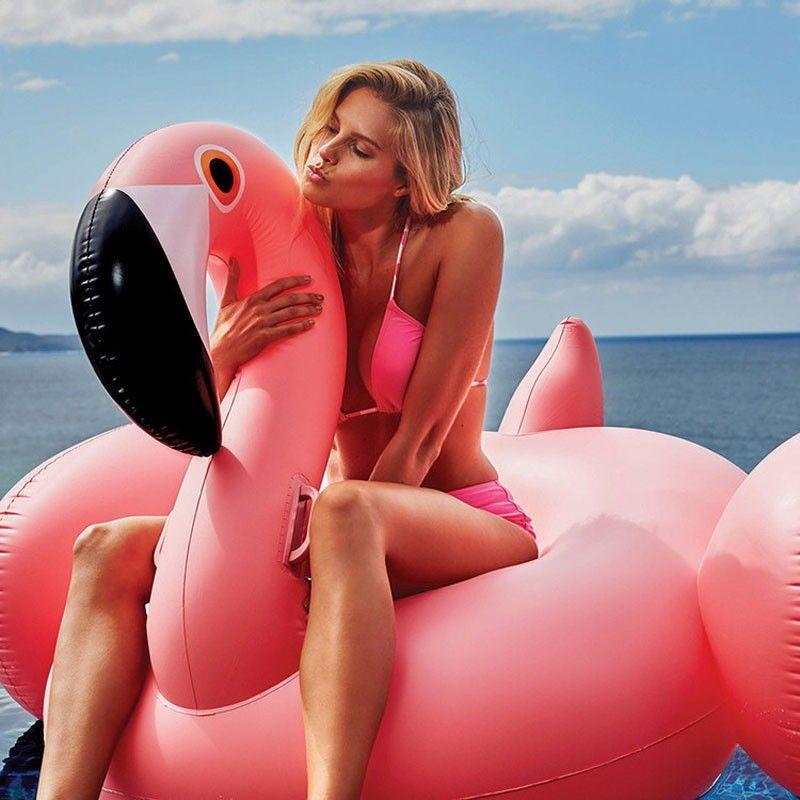 Flamant gonflable natation flotteur piscine flotteur rose Ride-On anneau de natation adultes enfants eau vacances fête jouets Piscina 150CM