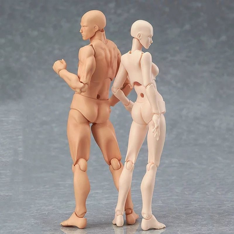 HOT SHFiguarts BODY KUN / BODY CHAN body-chan body-kun Grey Color Ver. Black PVC Action Figure Collectible Model Toy