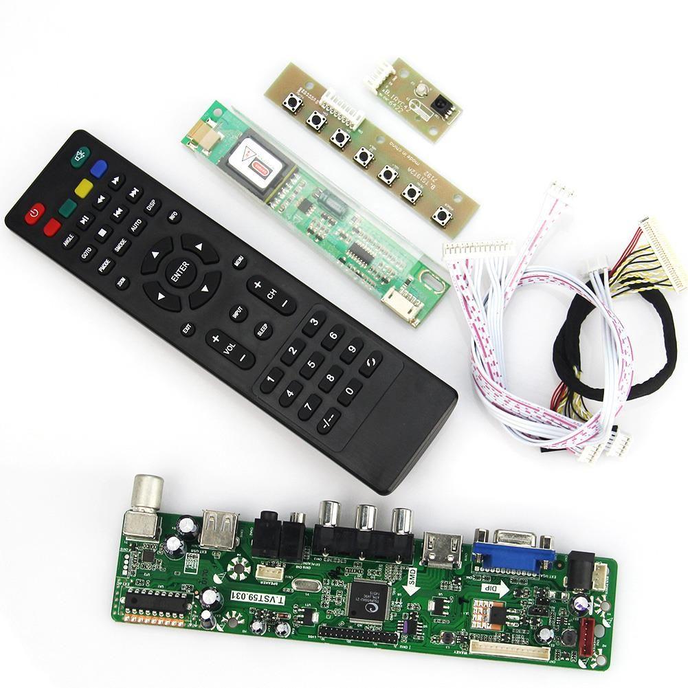 T. VST59.03 LCD/LED Controller Driver Board Für B141EW04 V4 QD14TL02 B154EW02 (TV + HDMI + VGA + CVBS + USB) LVDS Wiederverwendung Laptop 1280x800