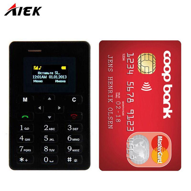 Original Ultra Thin Card Mobile Phone 4.8mm AEKU/AIEK M5 Low Radiation mini pocket students personality childn phone PK SOYES X6