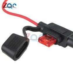 5 PCS Imperméable À L'eau Type Puissance Socket Mini Lame En Ligne Porteurs Fusionner avec 10A Fusible De Voiture Fusibles De Rechange