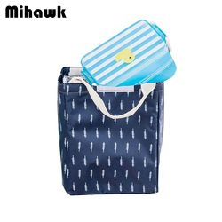 Mihawk Flamingos Food Lunch Bag Cooler for Drink Coke Thermal Insulated Picnic Handy Storage Travel Pouch  Accessories Supplies