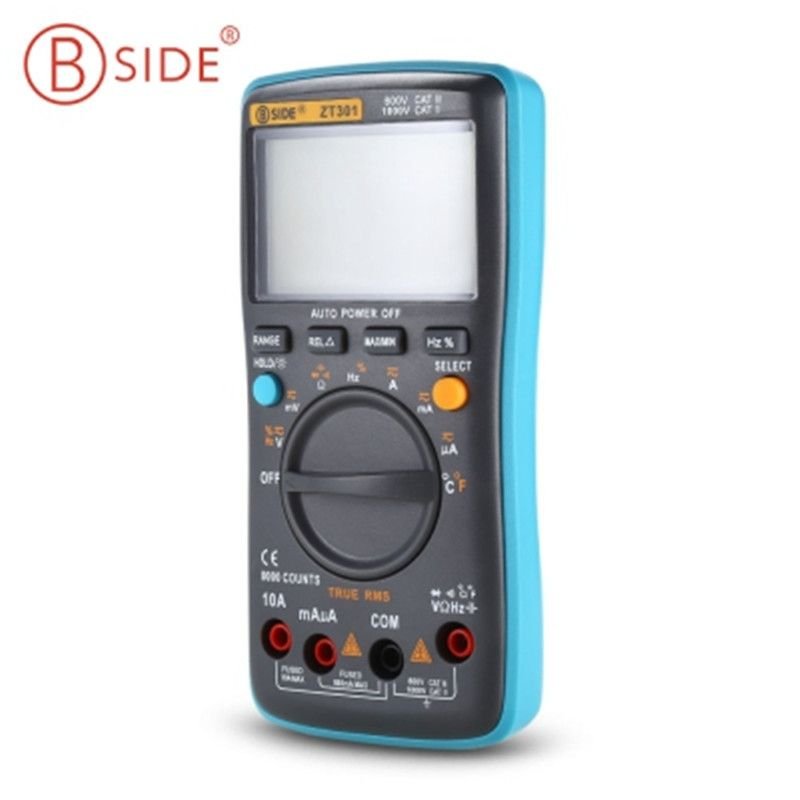 BSIDE ZT301 ZT302 Hot Digital LCD Multimeter Electric Handheld Tectep True RMS Auto Range Multimetro 8000/9999 Counts Esr Tester