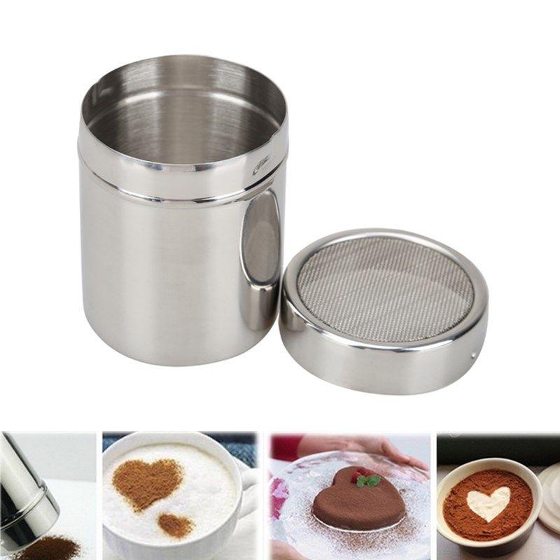 Нержавеющаясталь муки, соль сито сахарную пудру земснаряд какао Шоколад Косметическая пудра шейкер украшения Инструменты