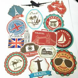 10 Lembar Vintage Merek Logo Kartun Punk Stiker Koper Laptop JDM Stiker Bom Mobil Sepeda Motor Mobil Styling