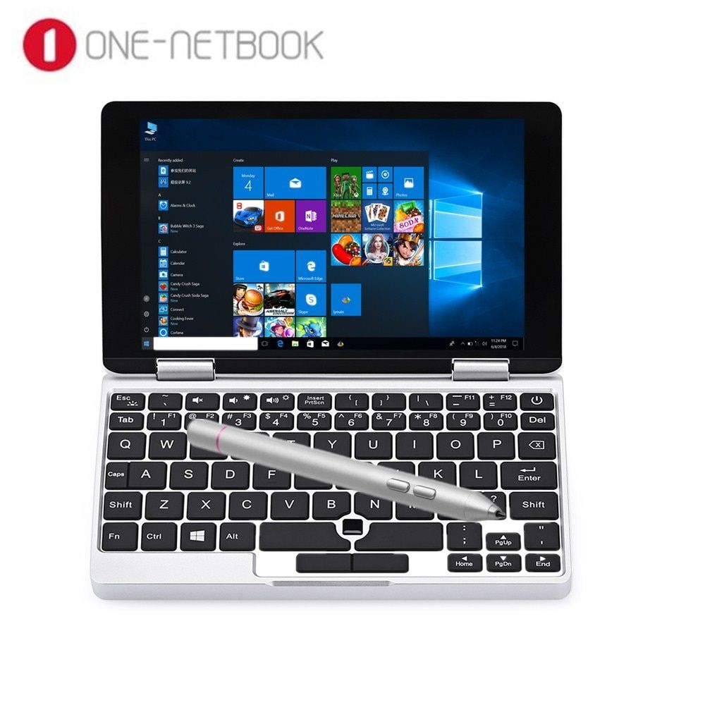 One Netbook One Mix Yoga Pocket Laptop Tablet PC 7.0 Inch Windows 10.1 Intel Atom X5-Z8350 Quad Core 8GB 128GB Dual WiFi Type-C