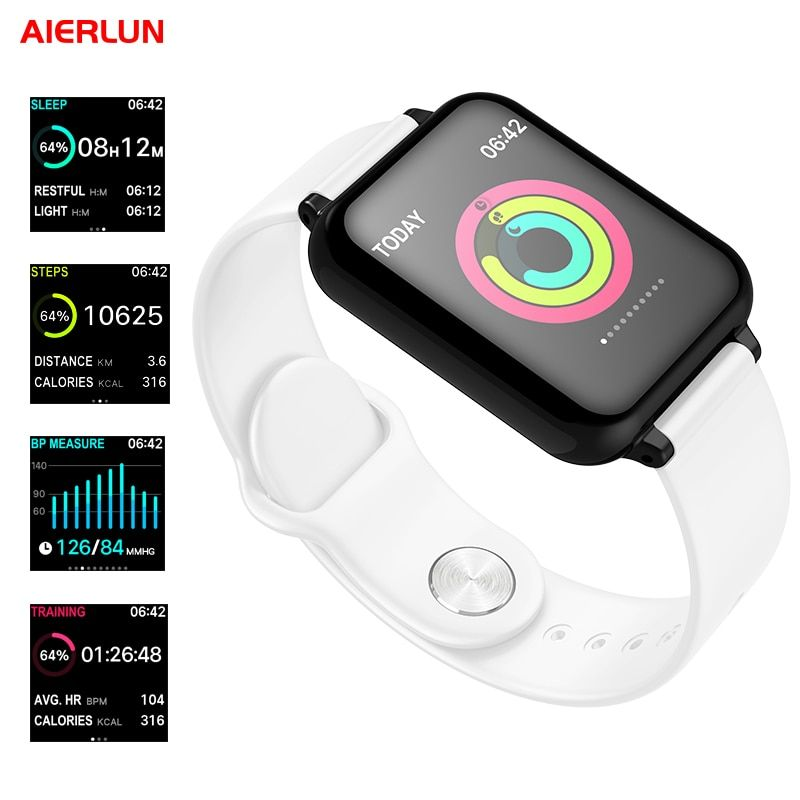 Aierlun B57 Smat Bracelet Smart Watch Heart rate Pedometer Sleep Detection 0.96 Inch OLED Color Screen for Iphone and Android