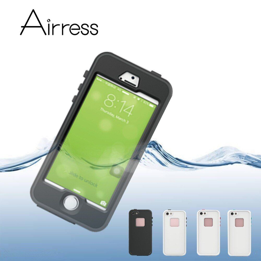 Airress 7th IP68 Waterproof Shockproof Snowproof Durable Phone Case Cover for iPhone SE 5s With Key Access to Charging Earphone