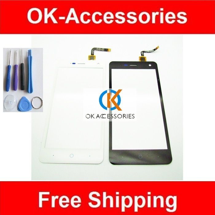 1PC/Lot For ZTE Blade L3 T120500E1V1.1 / T120481E1V1.0 Touch Screen Digitizer Replacement Black and White Color With Tools
