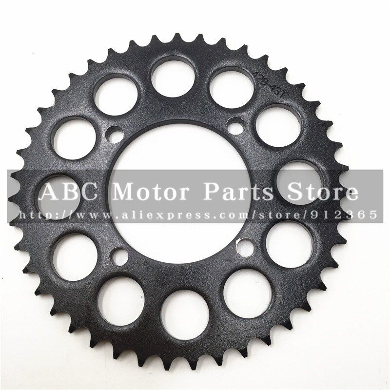428 Chain rear sprocket 43 tooth 76mm centre hole for Dirt Pit Bike off road motorcycle Motocross gear spare parts