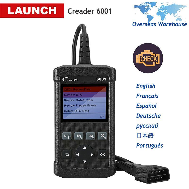LAUNCH Creader 6001 OBD2 Scanner Full OBD 2 DIY Auto Fault Code Reader Car Diagnostic Scan Tool EOBD OBDII Autoscanner CR6001