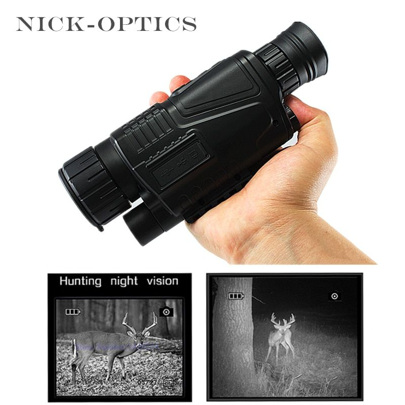 Hunting Night-Vision Monocular 2017 Tactical Infrared Night Vision Telescope Military HD Digital Monocular Telescope Powerful