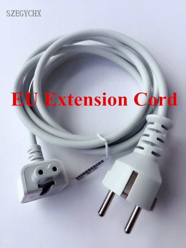 High Quality SZEGYCHX , Europe Cord EU Plug 1.8M AC Power Adapter Extension Cable for Macbook Pro MagSafe 11 12 13.3 15 Charger
