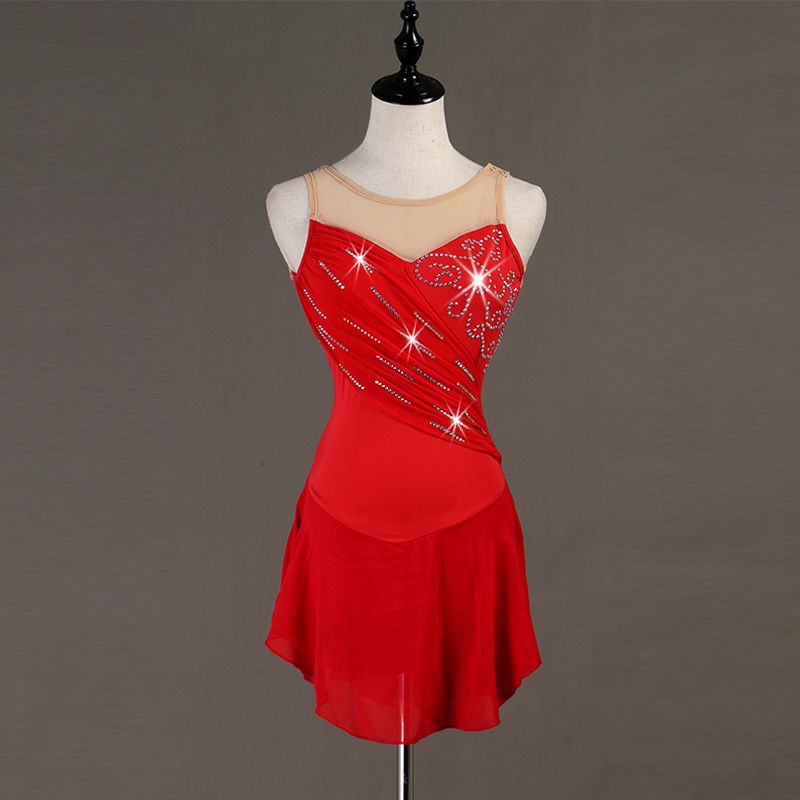Professional Custom Girls Figure Skating Dress Adult Graceful Ice Skating Dresses Competition Performance Practice Clothes B036
