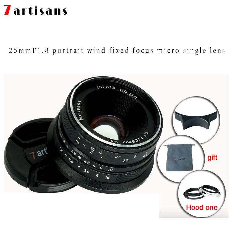 7 handwerker 25mm f1.8 Prime Objektiv Alle Einzelnen Serie für E Montieren Canon EOS-M Mout Micro 4/3 Kameras a7 A7II A7R Freies Verschiffen