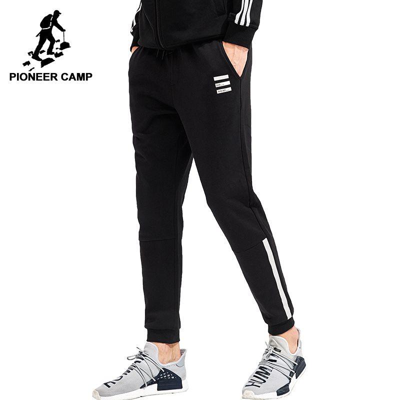 Пионерский лагерь джоггеры мужские 2018 наивысшее качество повседневные штаны брендовая мужская одежда мужские спортивные брюки темно-сини...