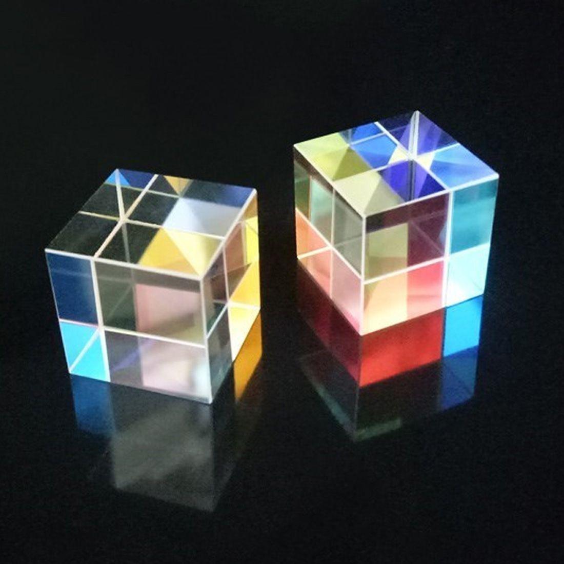 Optische Glas Material Prüfung Instrument 15*15*15mm Optische Glas Sechs Seiten Prismen Rechtwinklig Objektiv Optica