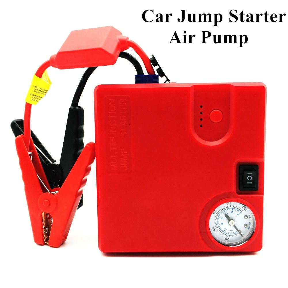 Car Jump Starter Power Bank 16800mAh Mini Car Battery Booster Charger 12V Super Starting Device Auto Inflatable Pump Car Starter