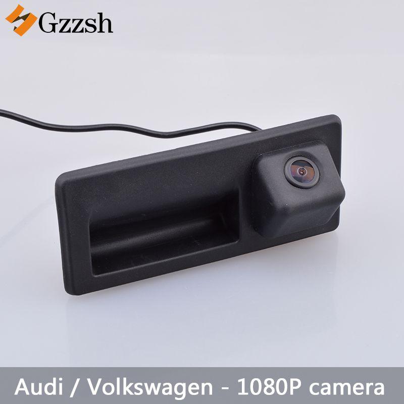 1080 P caméra de vue arrière de voiture pour Audi A3 A4L A6L A8L S5 Q3 Q5 et pour Volkswagen Passat Jeddah Touran poignée de coffre de voiture de Golf
